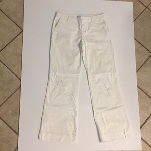 Gap white khaki wide leg pants size 6